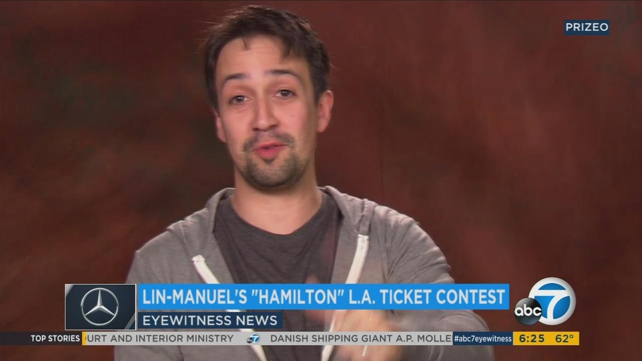 The Tony award-winning playwright said there will be a ticket contest for a performance of his famous show in L.A. in August.