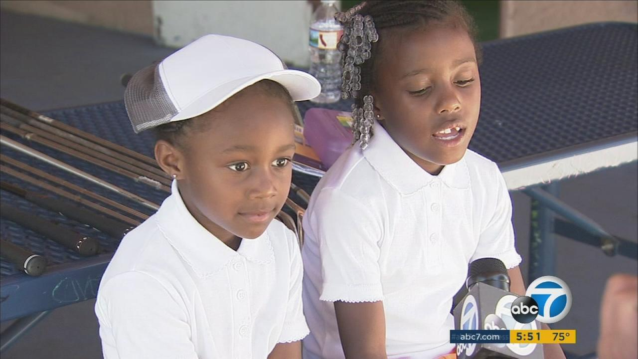 Roxy (left) and Layla Phillips from Compton are already drawing attention for their golf skills.