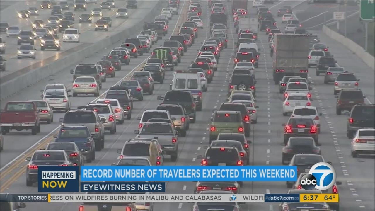 A file photo of Los Angeles traffic.