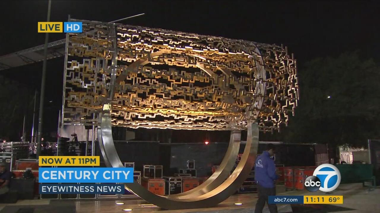 A crowd estimated at more than 50,000 came out Tuesday for the unveiling of the Freedom Sculpture, a gift from the Iranian-American community that now adorns Santa Monica Boulevard.