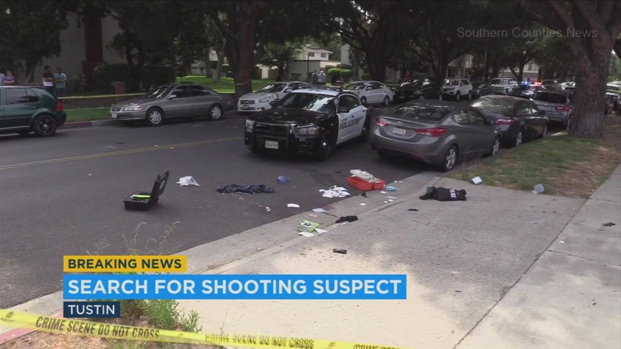 The scene of a fatal shooting in Tustin on Sunday, July 9, 2017.