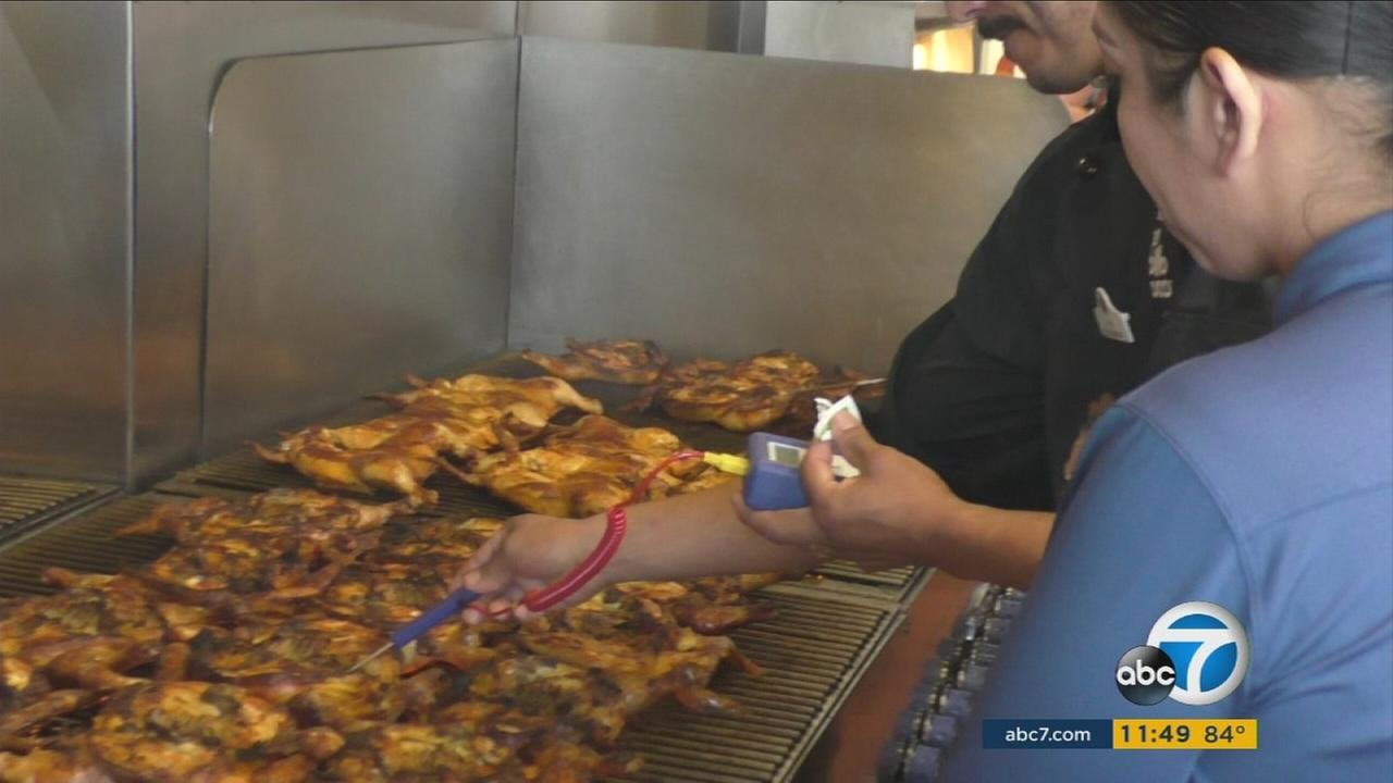 Six out of 1,400 El Pollo Loco chefs had a cook-off in Burbank to earn the title of grill master. The ingredients are the same, but each chef puts his spin on what it takes to create the best grilled chicken.