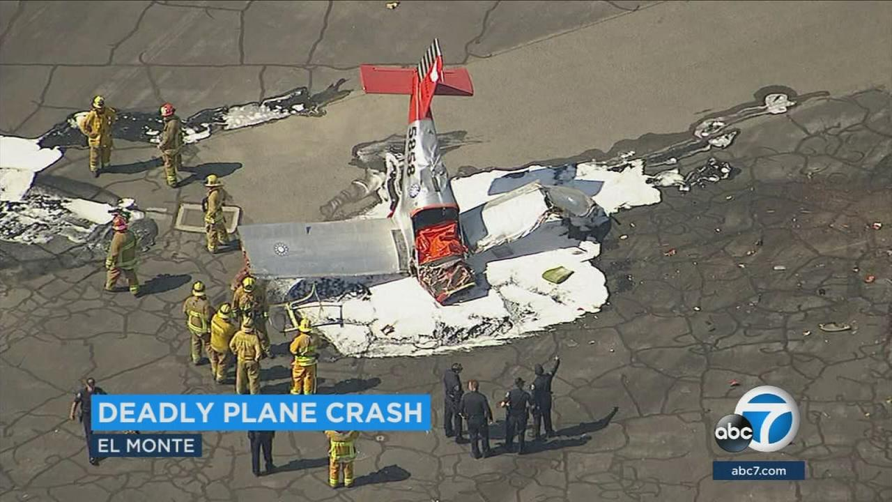 Witnesses described the moments before a small plane crashed at an airport in El Monte, killing the pilot inside.