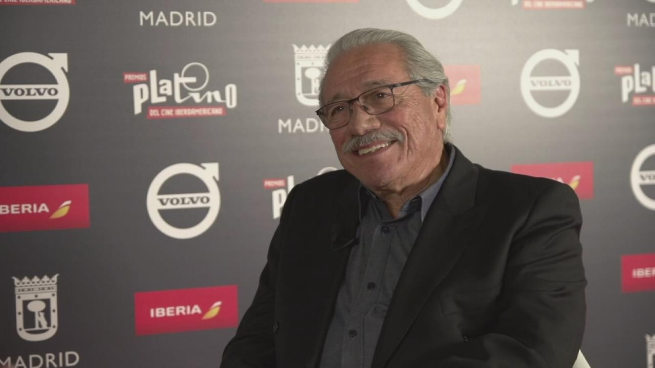 In an interview with ABC7, Edward James Olmos discusses the lifetime achievement award he is set to receive at the 2017 Platino Awards in Madrid, Spain.
