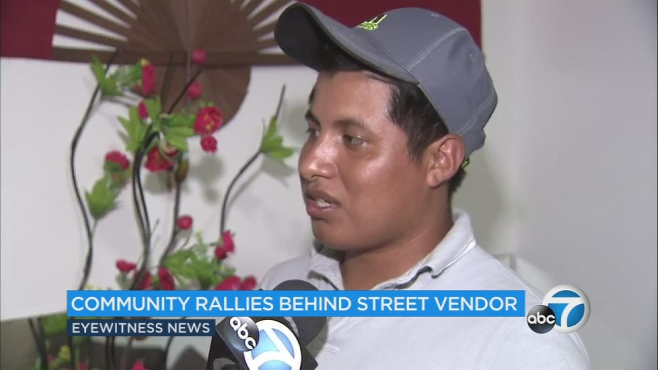 A local community comes together to raise money for the man whose cart was destroyed in a despicable act of violence.