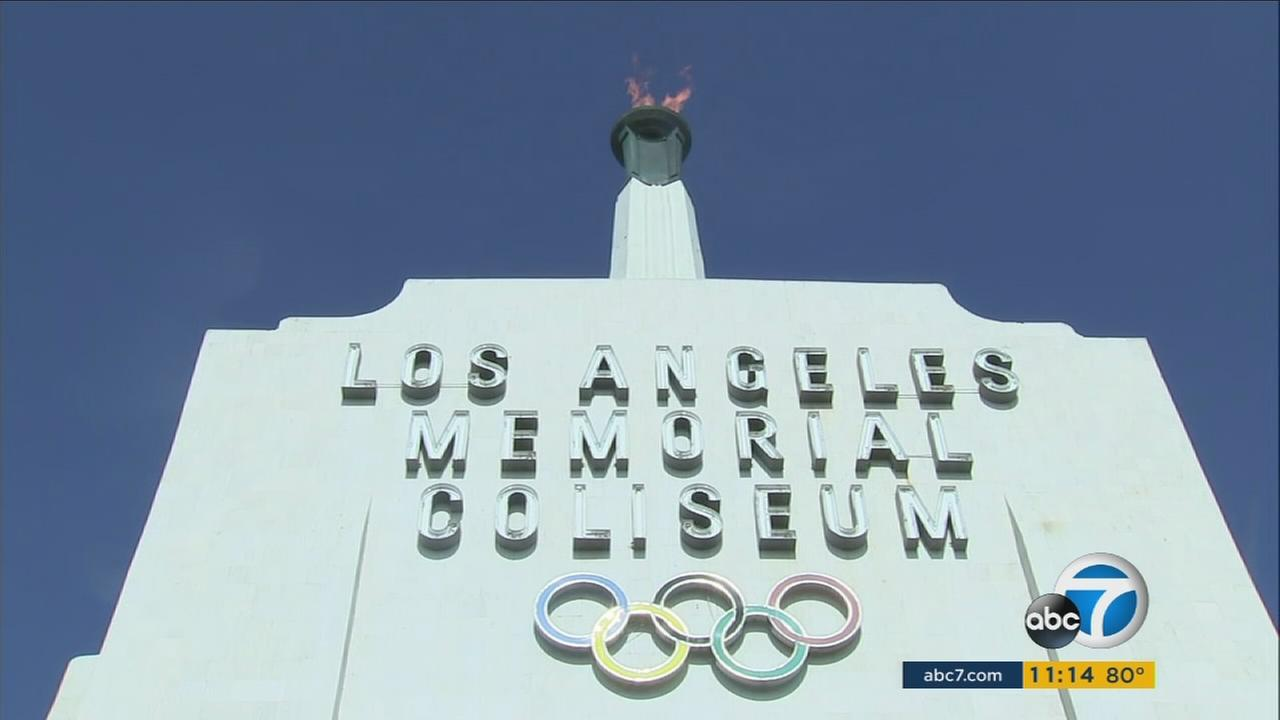 The Olympic cauldron was lit exactly 33 years after the 1984 Olympic Games opening ceremony at the Los Angeles Memorial Coliseum.
