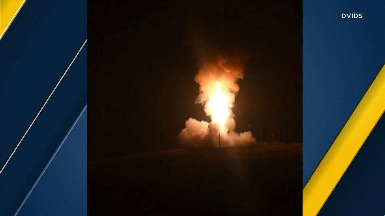 The U.S. Air Force successfully launched an unarmed intercontinental ballistic missile from Vandenberg Air Force Base, the fourth such test this year.