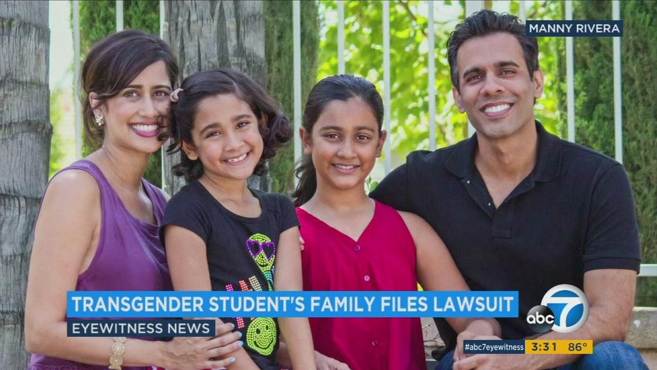 The family of an 8-year-old transgender student has filed a discrimination lawsuit against an Orange County private school.