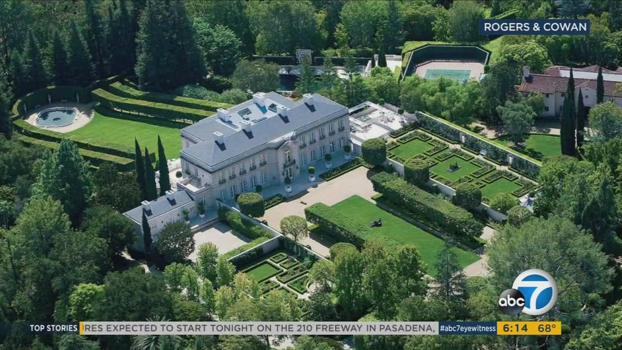 The Chartwell, a Bel Air estate listed as the most expensive home in America on Tuesday, Aug. 8, 2017.