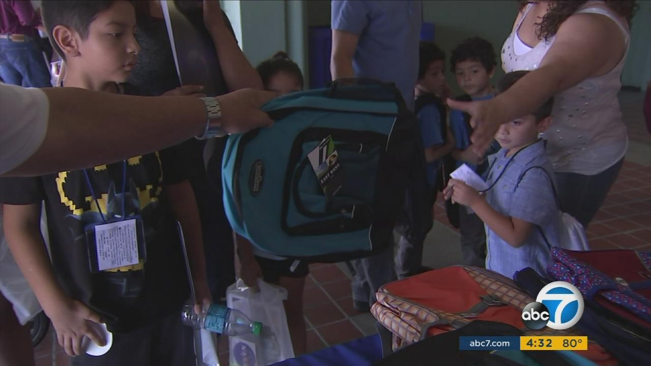 Community donations helped more than 1,000 low-income families in the San Gabriel Valley start the school year off right with free supplies.