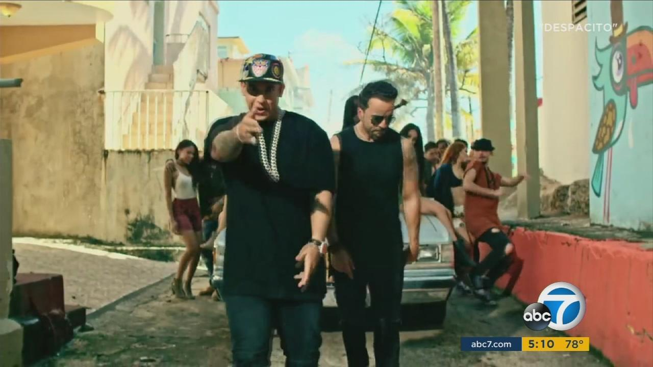 Luis Fonsi and Daddy Yankee are shown in the original Despacito music video.