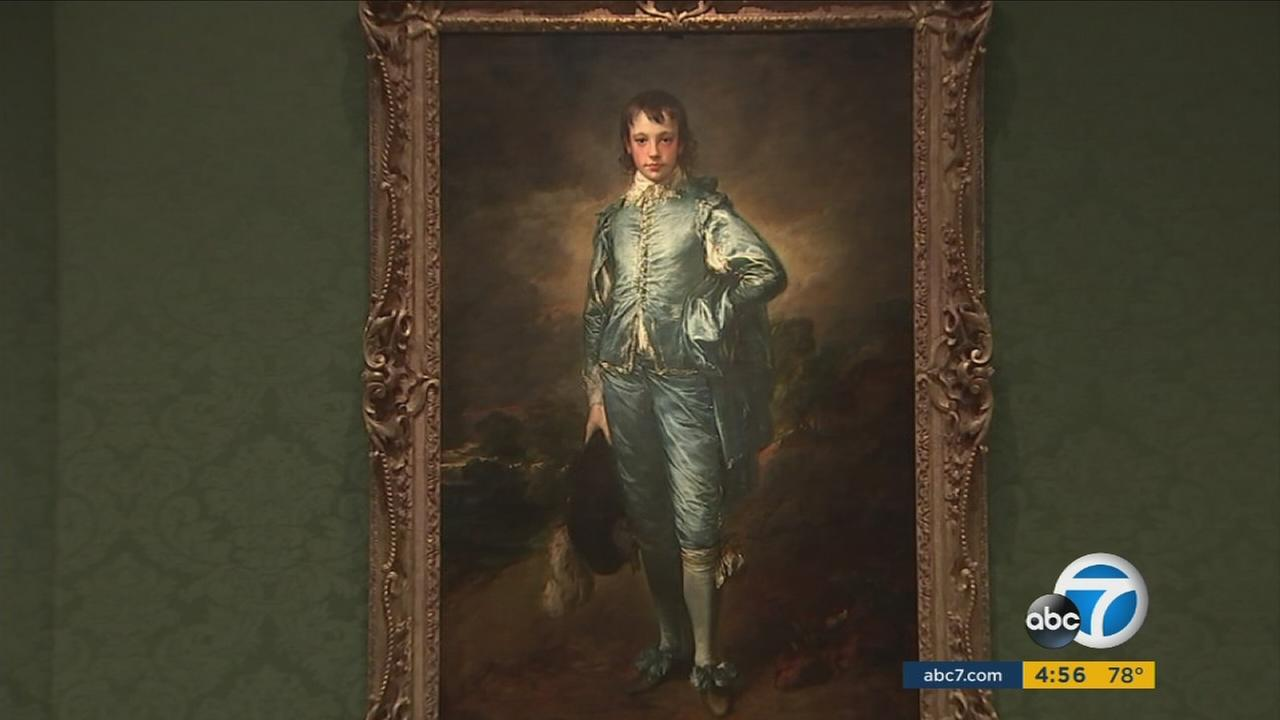 The Blue Boy painting, which is being taken down from the Huntington Library for preservation.