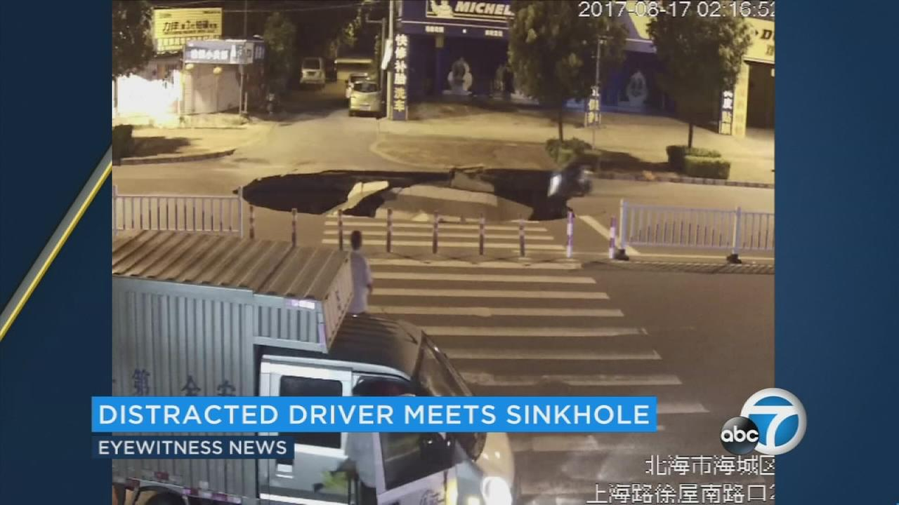 Now this may be the worst case of distracted driving ever. It happened in the Chinese city of Beihai.