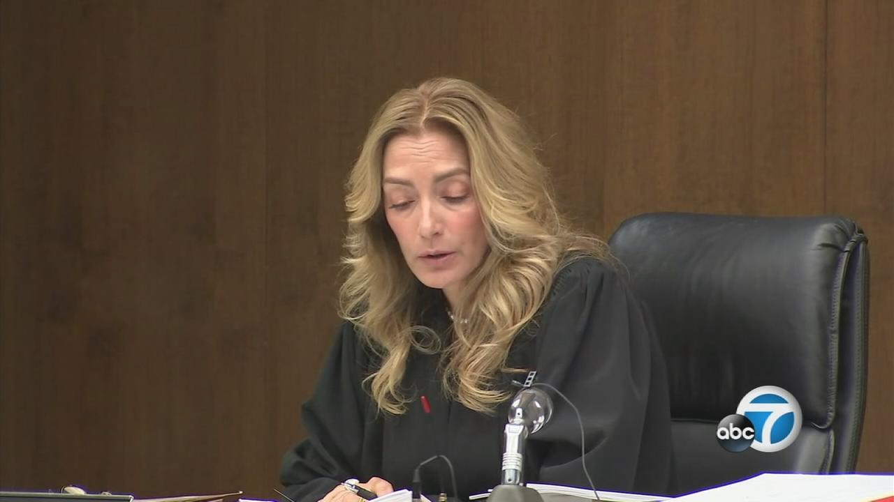 LA County Superior Court Judge Cathryn Broughman on Wednesday, Aug. 23, 2017, announces Aramazd Andressian Sr.s sentence of 25 years to life in prison for the killing of his son.