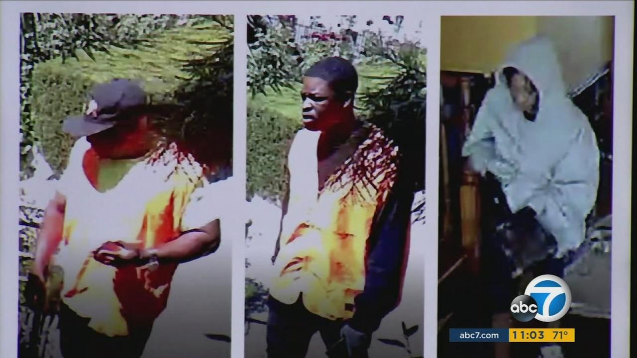 The search is intensifying for three suspects who beat and bound two Calabasas residents and ransacked their house in a violent home-invasion robbery.