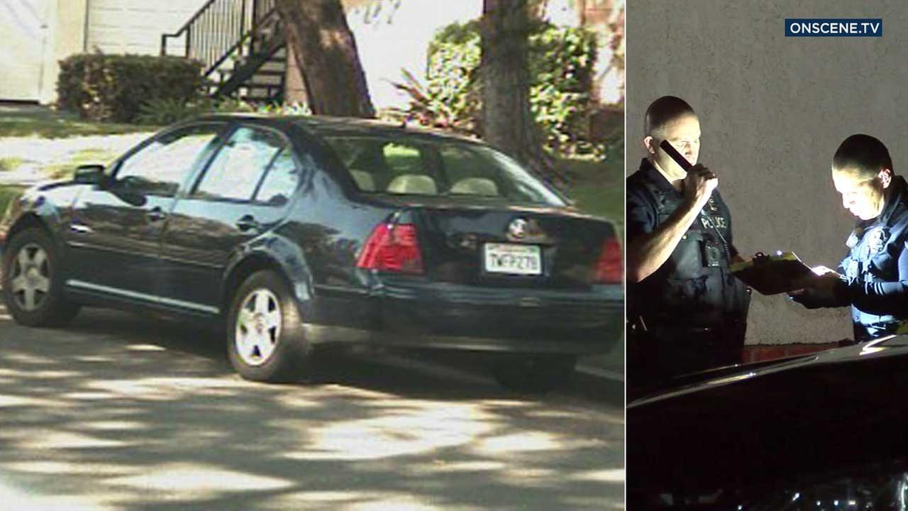 A Volkswagen Jetta was stolen by armed robbers who targeted an elderly care facility in Fullerton.