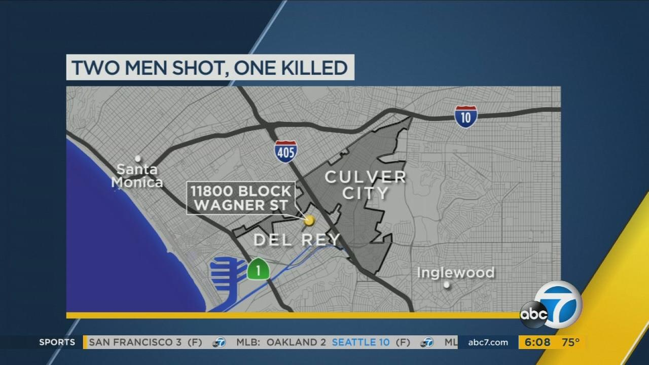 One man is dead and another is injured after a shooting in Del Rey.