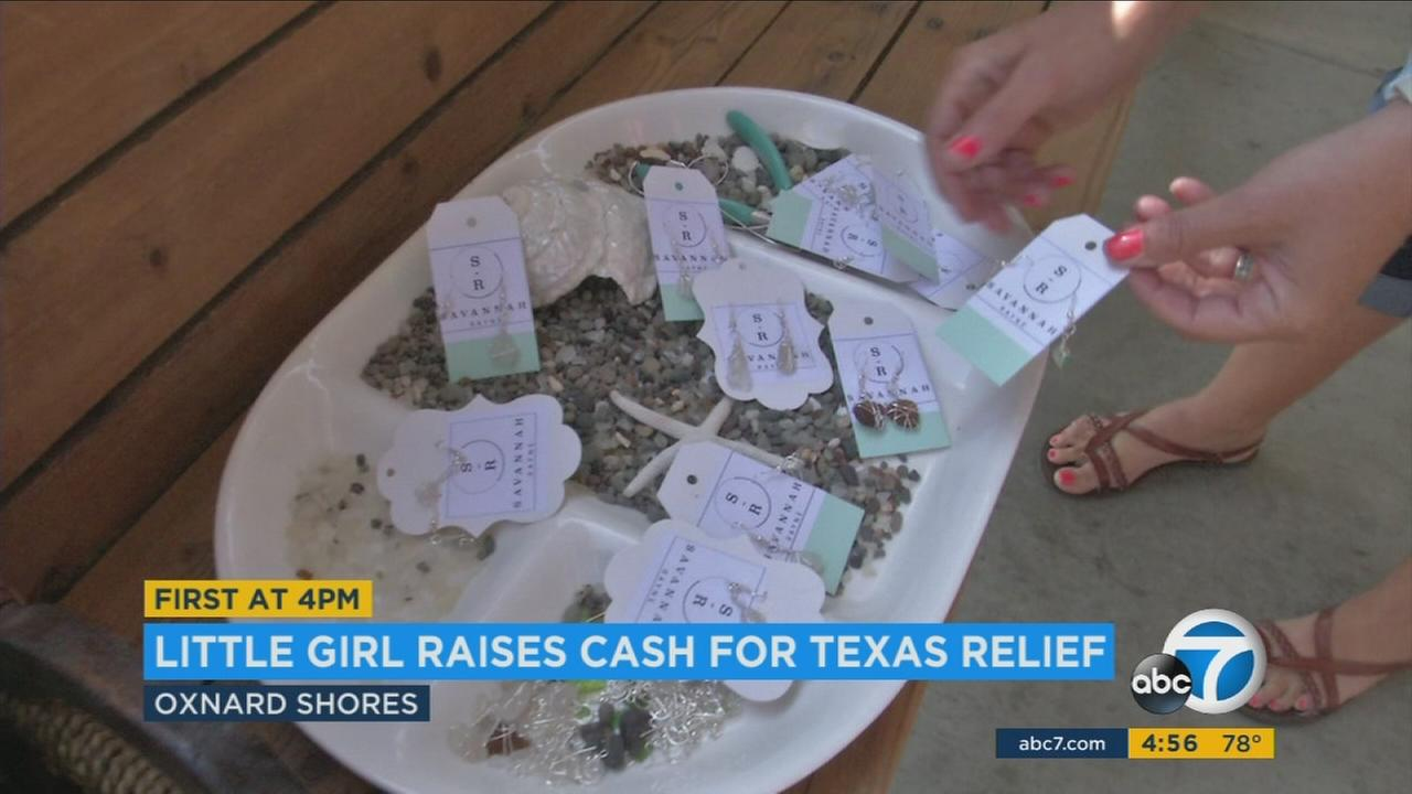 The young jewelry artist moved with her family to Oxnard Shores nine months ago and watched Hurricane Harvey decimate her hometown from 1,600 miles away.