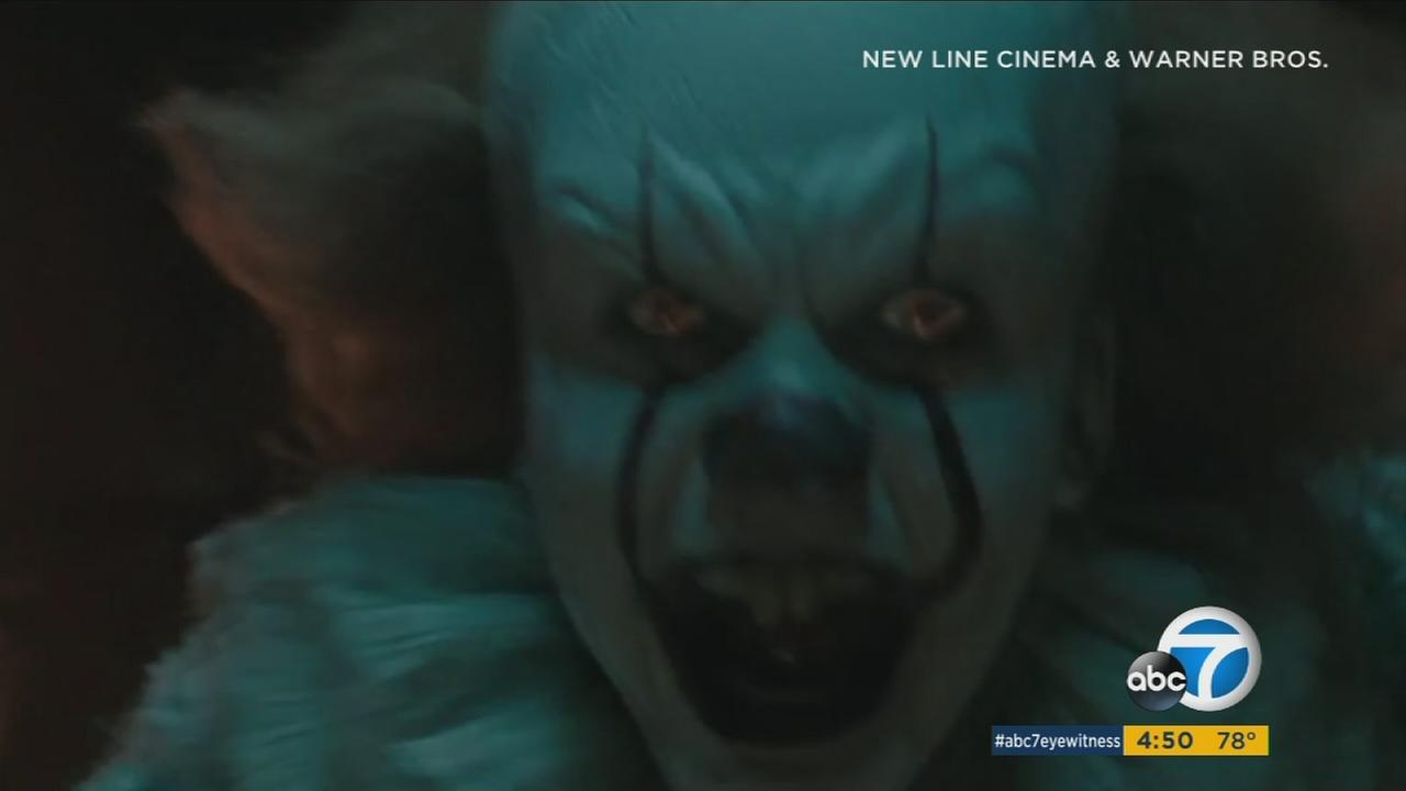 A screenshot of Pennywise the clown from the new movie It.
