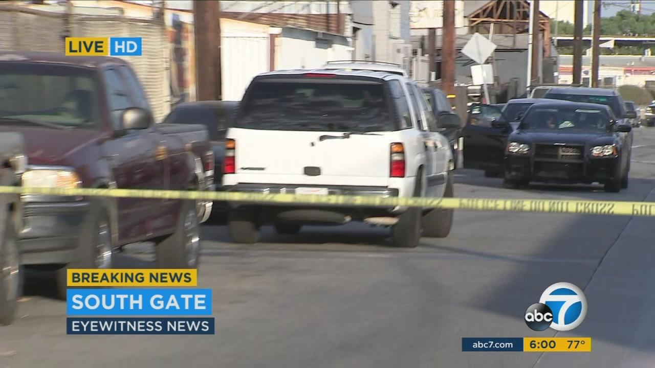 A man has been shot and killed in the 4900-block of South Gate at an auto body shop, authorities said.
