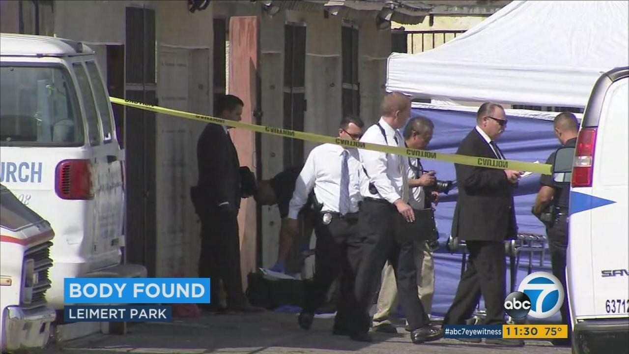 A body was found in Leimert Park on Tuesday, Sept. 12, 2017.