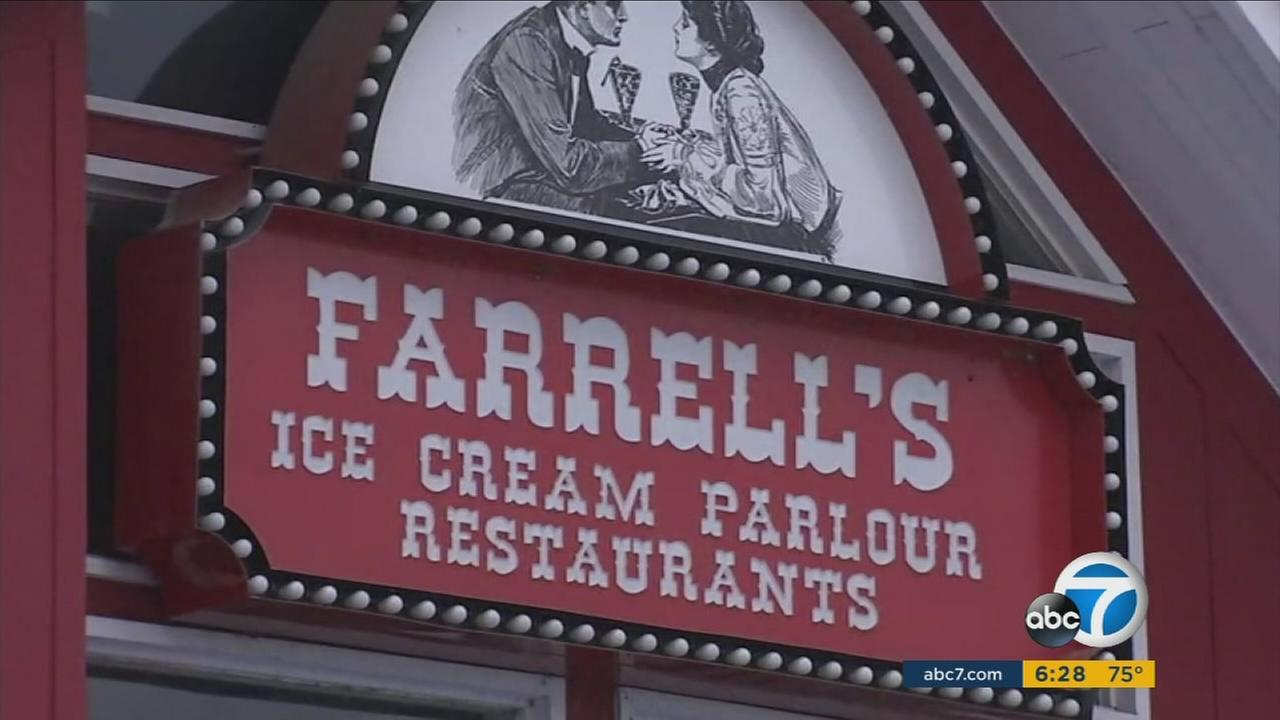 Its the end of an era for Farrells Ice Cream Parlour and Restaurant in Riverside, which is closed and auctioning off everything inside and outside the store.