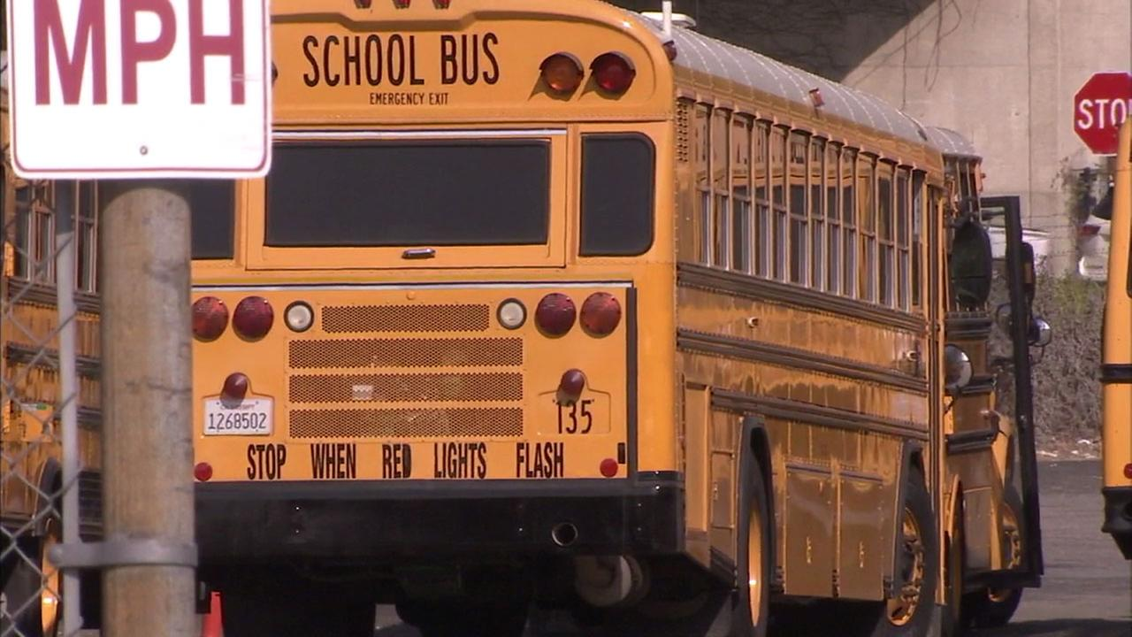 A bus in Redlands is shown.