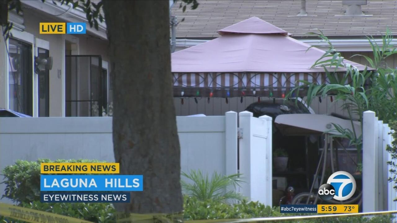 A crime scene is shown in Laguna Hills on Thursday, Sept. 14, 2017.