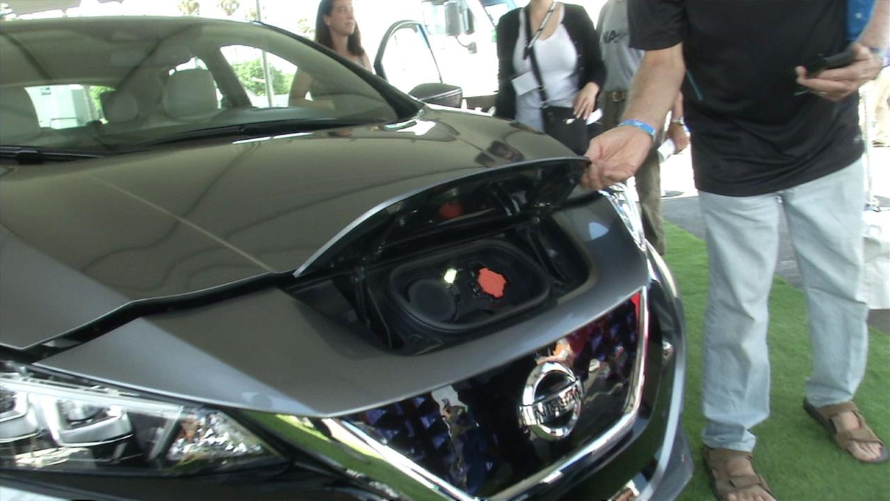 A Nissan hybrid at the Alt Car Expo in Santa Monica on Friday, Sept. 15, 2017.