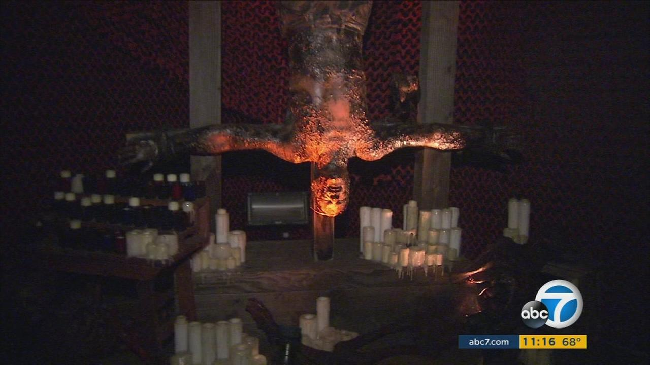 A character in one of eight mazes at Universal Studios Halloween Horror Nights is shown.