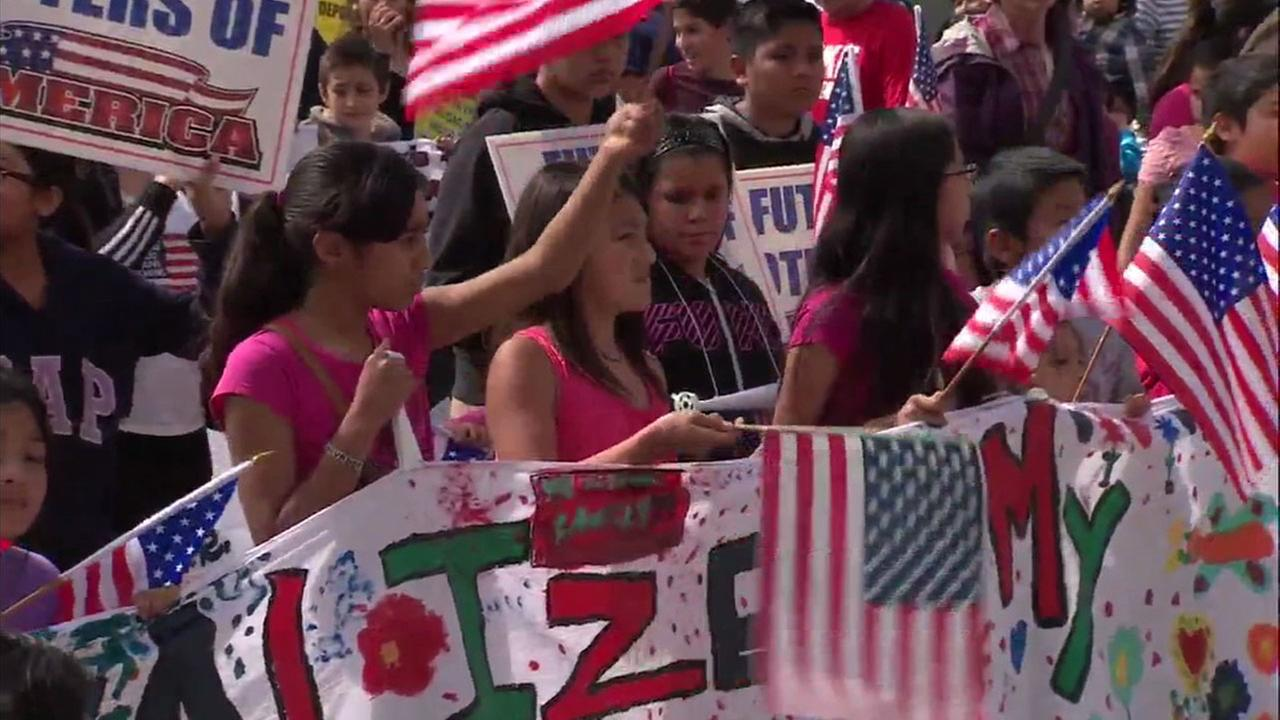 People celebrated the decision to make California a sanctuary state, which will protect immigrants.