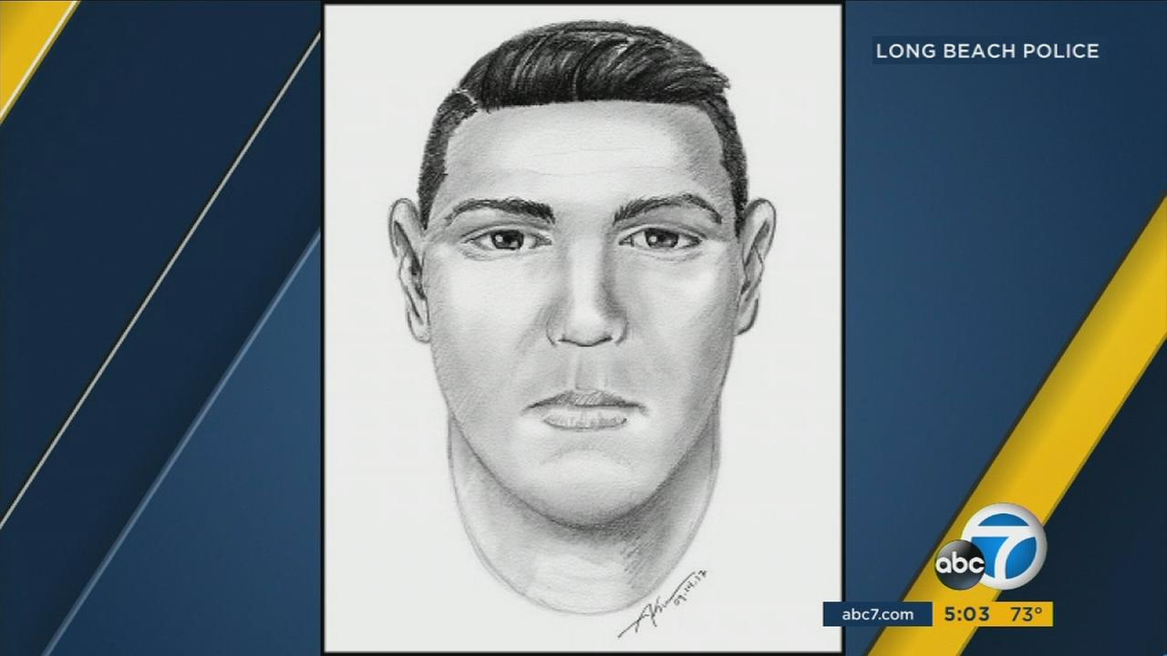 Long Beach police have released a sketch and description of a flasher who has been approaching young girls and exposing himself.
