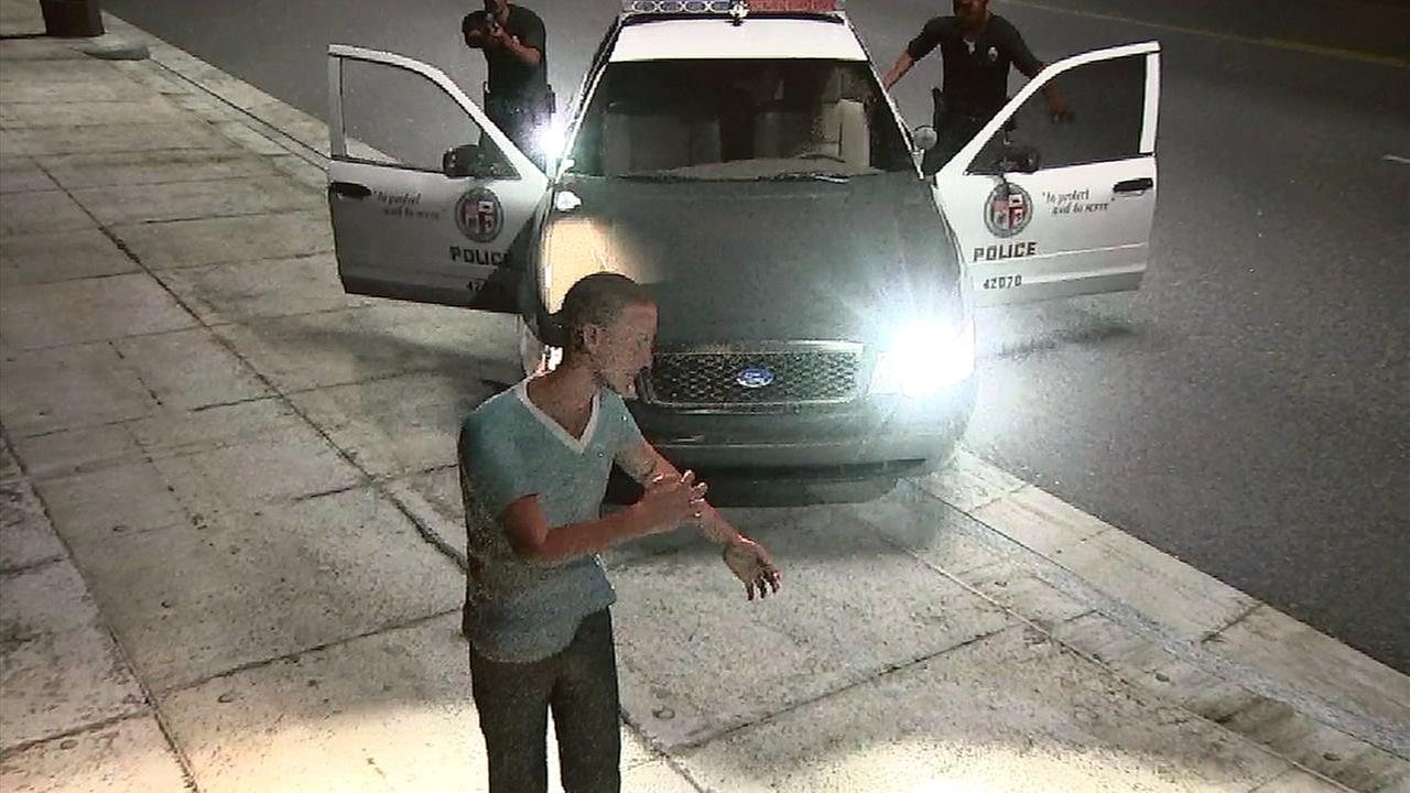 A lawyer for Erick Riveras family released an animated simulation that shows what they believe happened in a confrontation with Los Angeles Police Department officers.