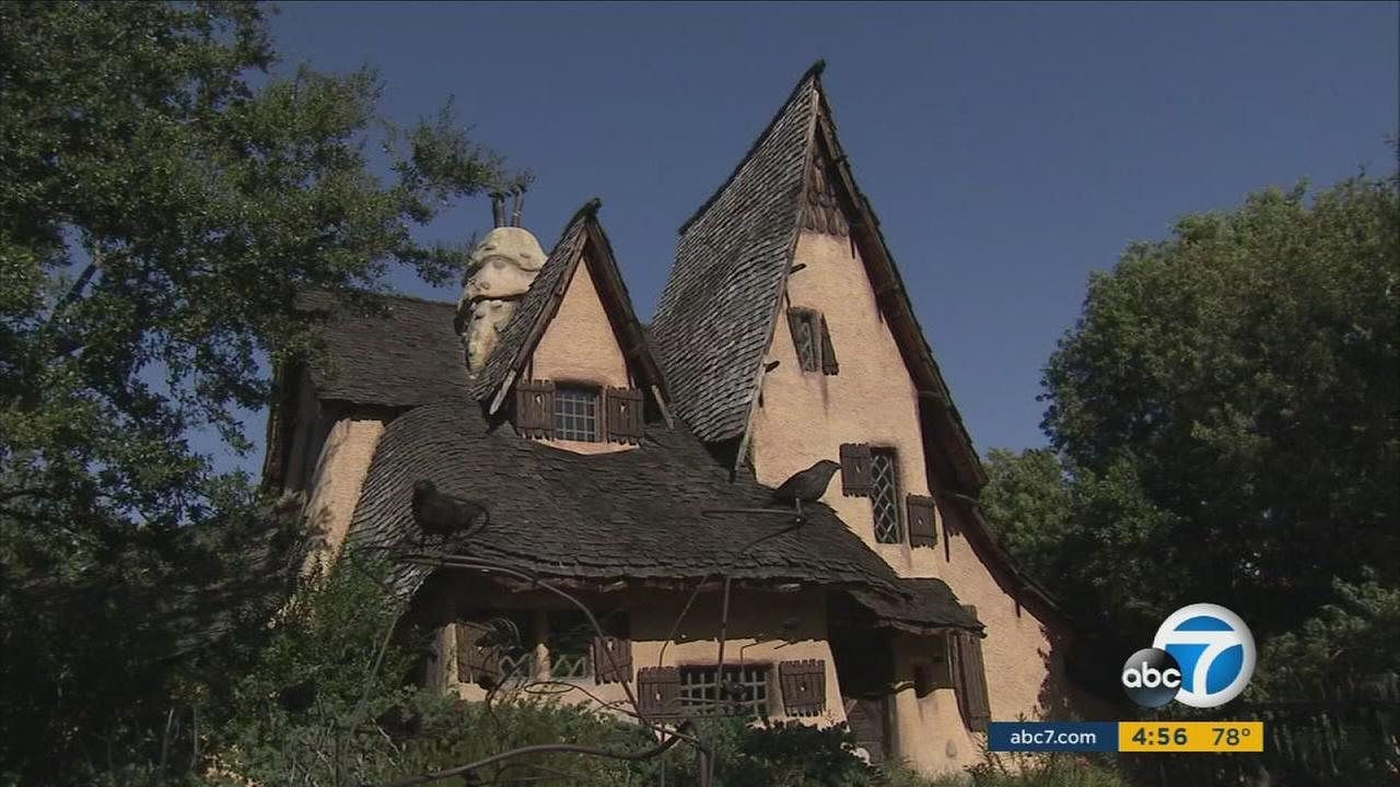 The house at 516 Walden Drive in Beverly Hills is a popular stop during Halloween.
