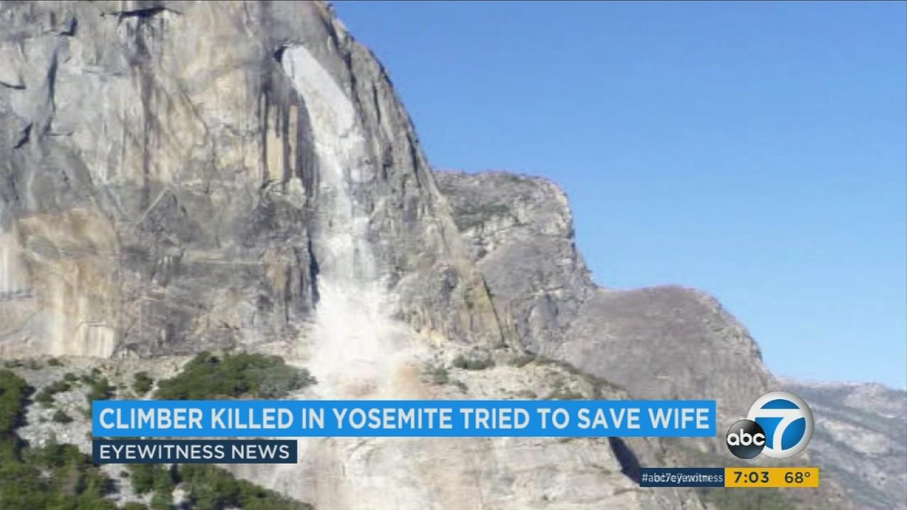 A deadly rockslide seen at Yosemite National Park.