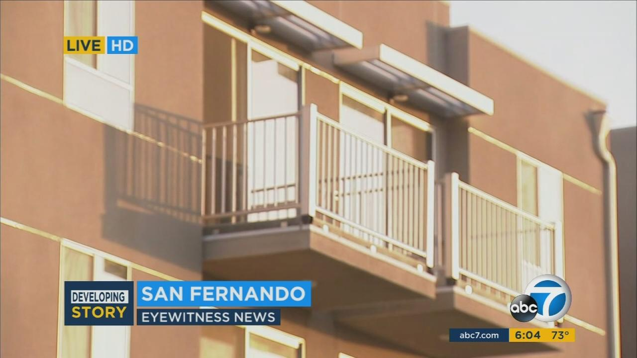 A San Fernando apartment where an officer-involved shooting occurred on Sunday, Oct. 8, 2017.