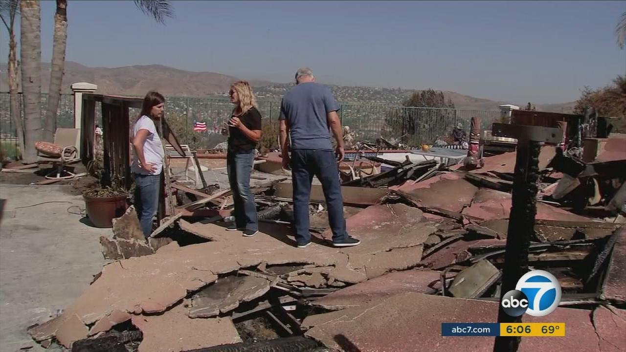 Anaheim residents look at the devastating aftermath of the Canyon Fire 2.