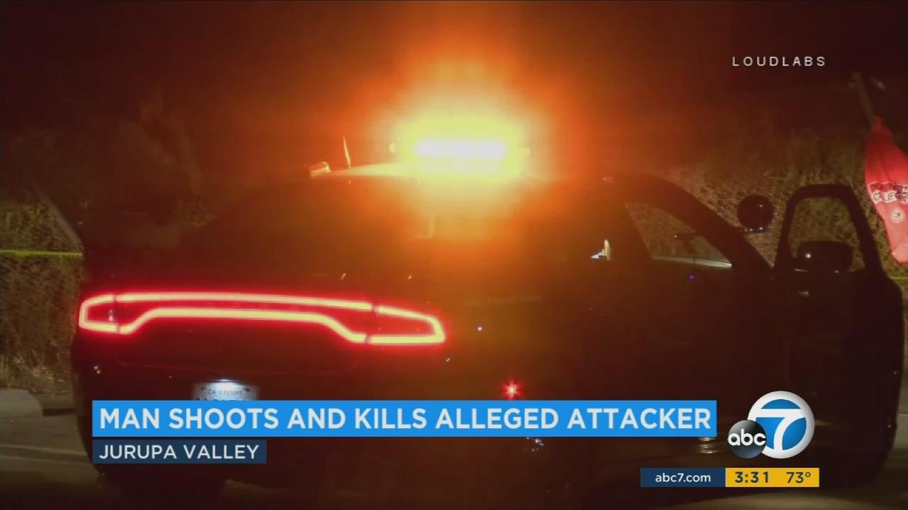 A man was shot and killed at a Jurupa Valley park-and-ride after he apparently threw a boulder through the window of a car with a sleeping man inside, officials said.