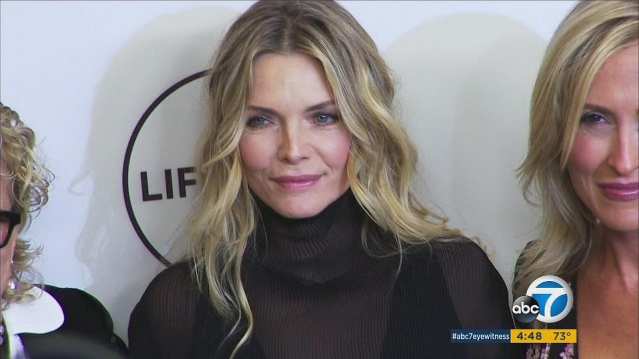 Michelle Pfeiffer was among attendees at a Beverly Hills event celebrating the power of women in Hollywood.