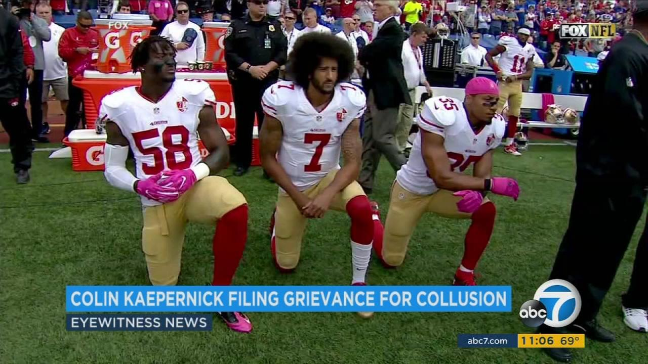 Colin Kaepernick has filed a grievance against NFL owners for collusion under the latest collective bargaining agreement.