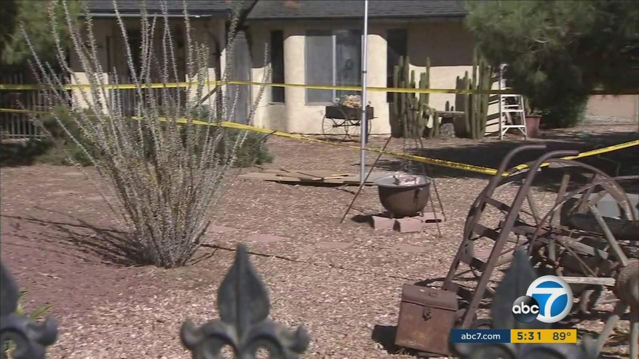A 75-year-old Apple Valley man says he was just walking across the front yard to check on his Ocotillo tree when he was swallowed by a sinkhole.
