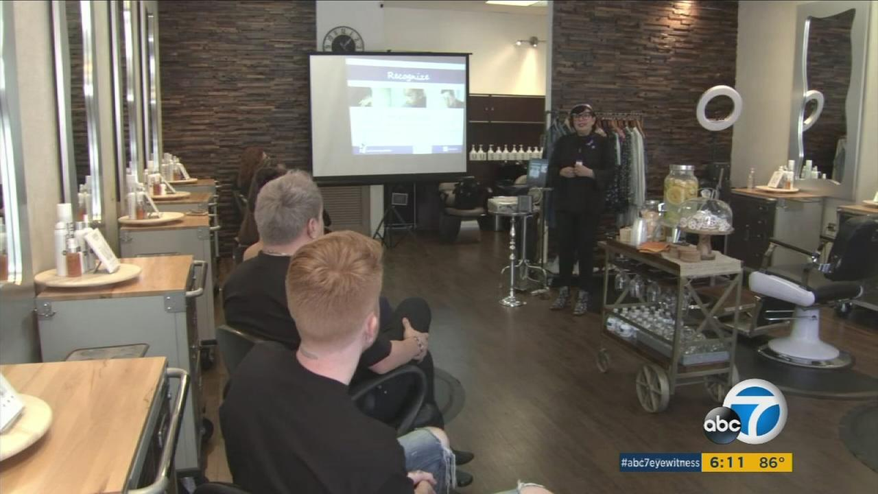 A new program for salon professionals that teaches stylists how to detect signs of abuse in their clients aims to break the cycle of domestic violence in Southern California.
