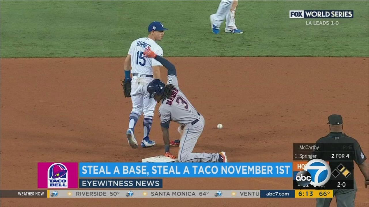 Taco Bell offers free tacos in honor of World Series stolen base