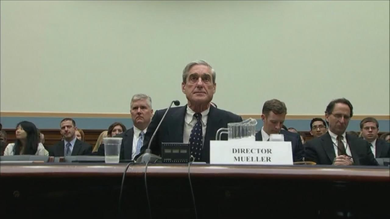 Special counsel on the Russia investigation, Robert Mueller, is shown in a photo.