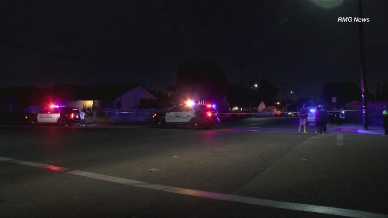 Authorities blocked off a street in Baldwin Park after a known gang member was shot during an officer-involved shooting on Friday, Nov. 3, 2017.