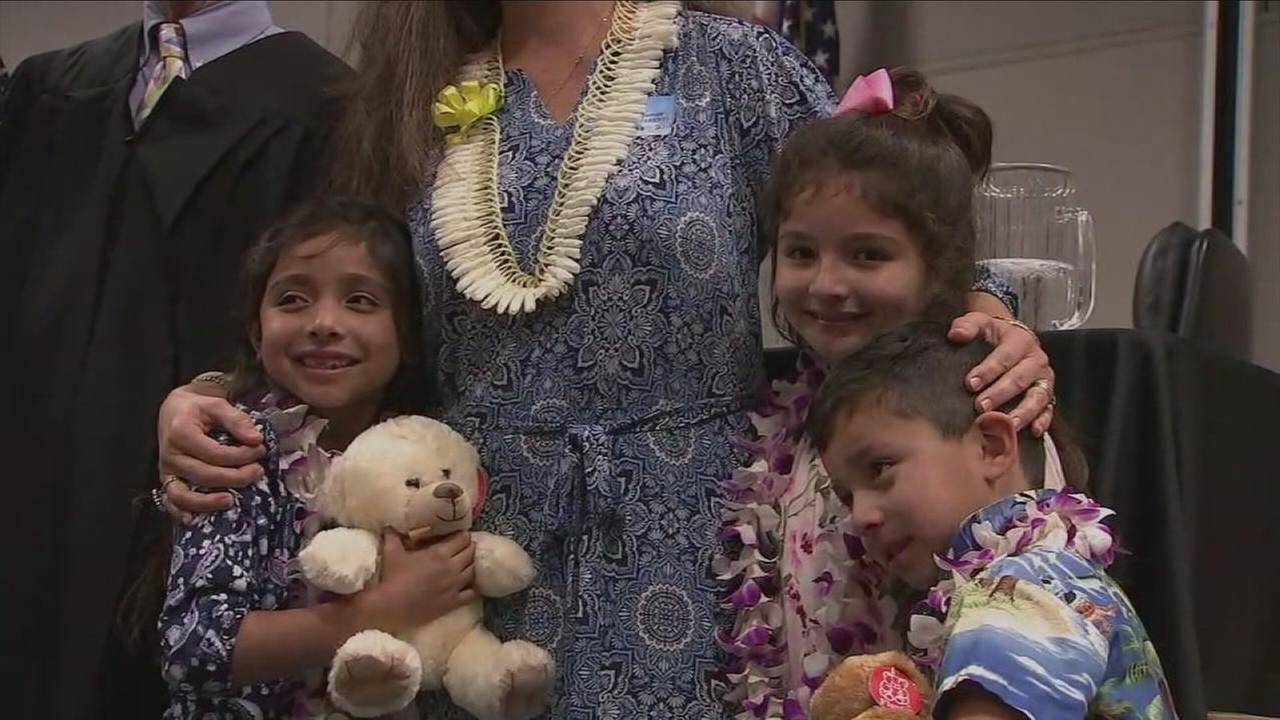 Its not often that anyone is excited to be sworn in before a judge. But the Ramos family was crying tears of joy before the hearing even began.