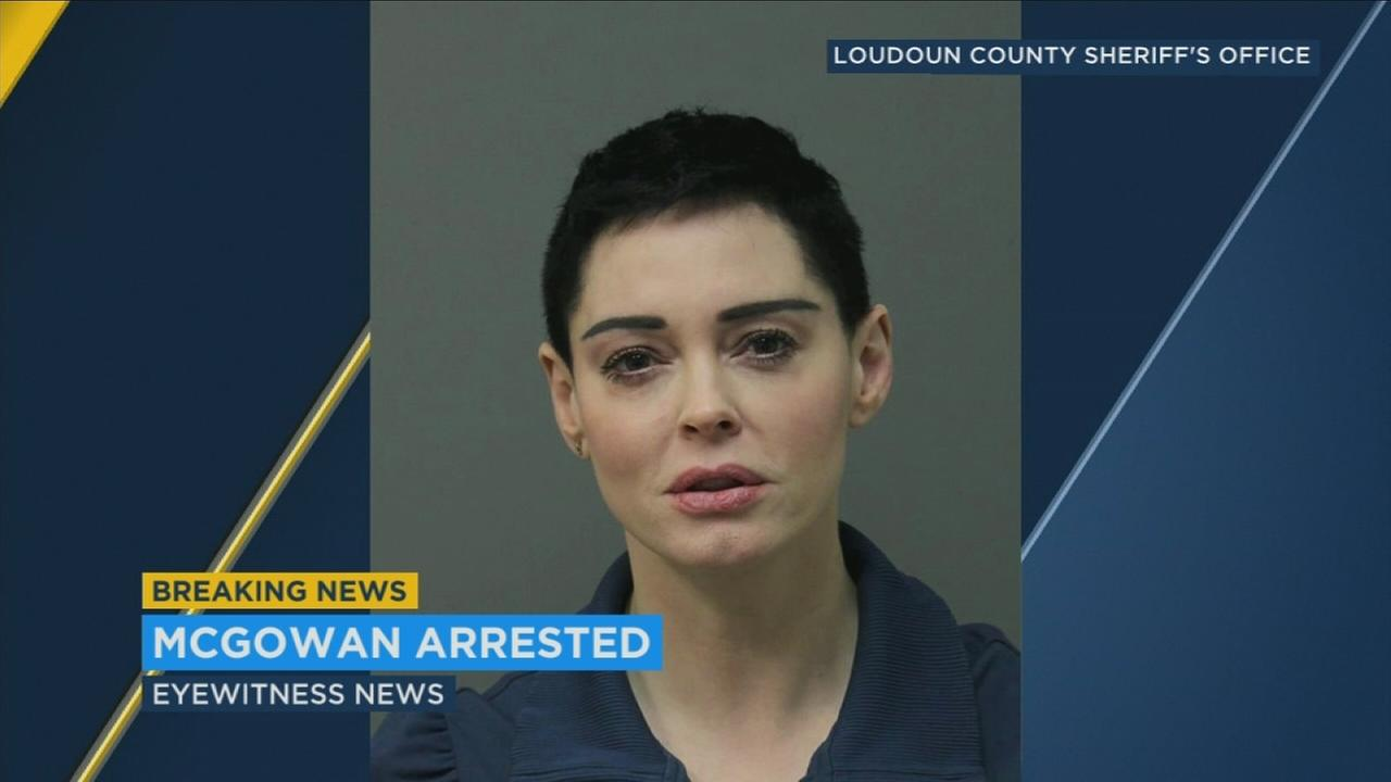 Actress Rose McGowan turned herself in in Virginia Tuesday after a warrant was issued for her arrest by authorities in February.