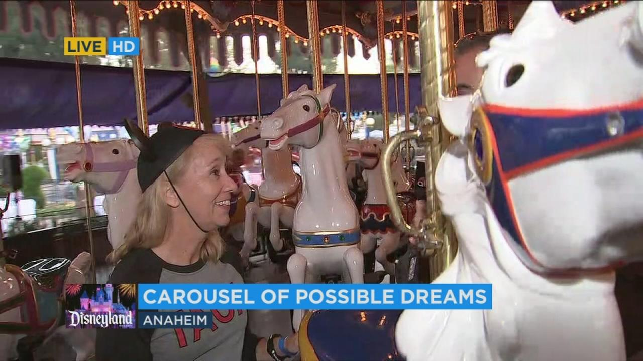 Hundreds of representatives from 13 Orange County-based childrens charities rode the carousel at Disneyland to raise money for kids in need.