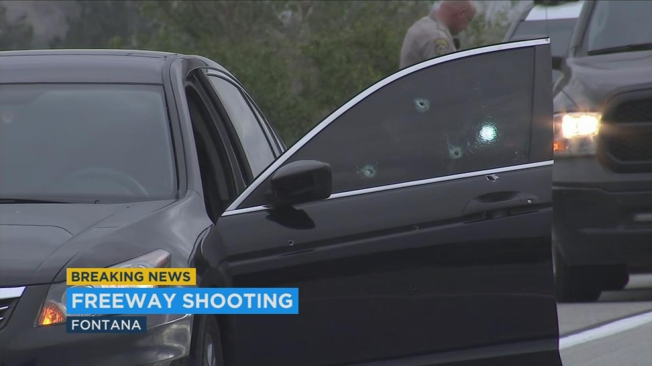 An investigation is underway following a shooting on the 210 Freeway in Fontana that left a brother and sister wounded.