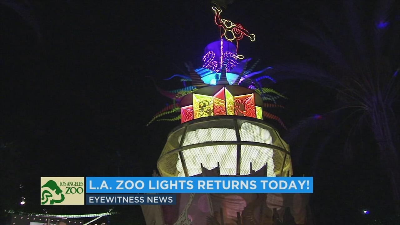 The Los Angeles Zoo is kicking off its annual holiday light show Friday.
